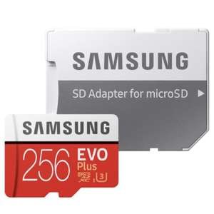 Samsung 256GB EVO Plus (+2.1% Topcashback) Micro SD (U3) with Adapter £79.99 Free P&P @ tobydeals