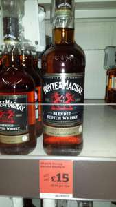1 Litre Whyte & Mackay Whisky £15 at Sainsburys