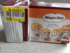 Haagen Dazs caramel collection and chocolate collection  mini cups £1.05 instore reduced from £4.20 @ Tesco Fox and Goose