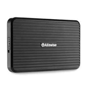 Alfawise HY - EB - 2510 - USB 3 SSD / HDD Enclosure  -  BLACK (£4.37 with code) @ Gearbest
