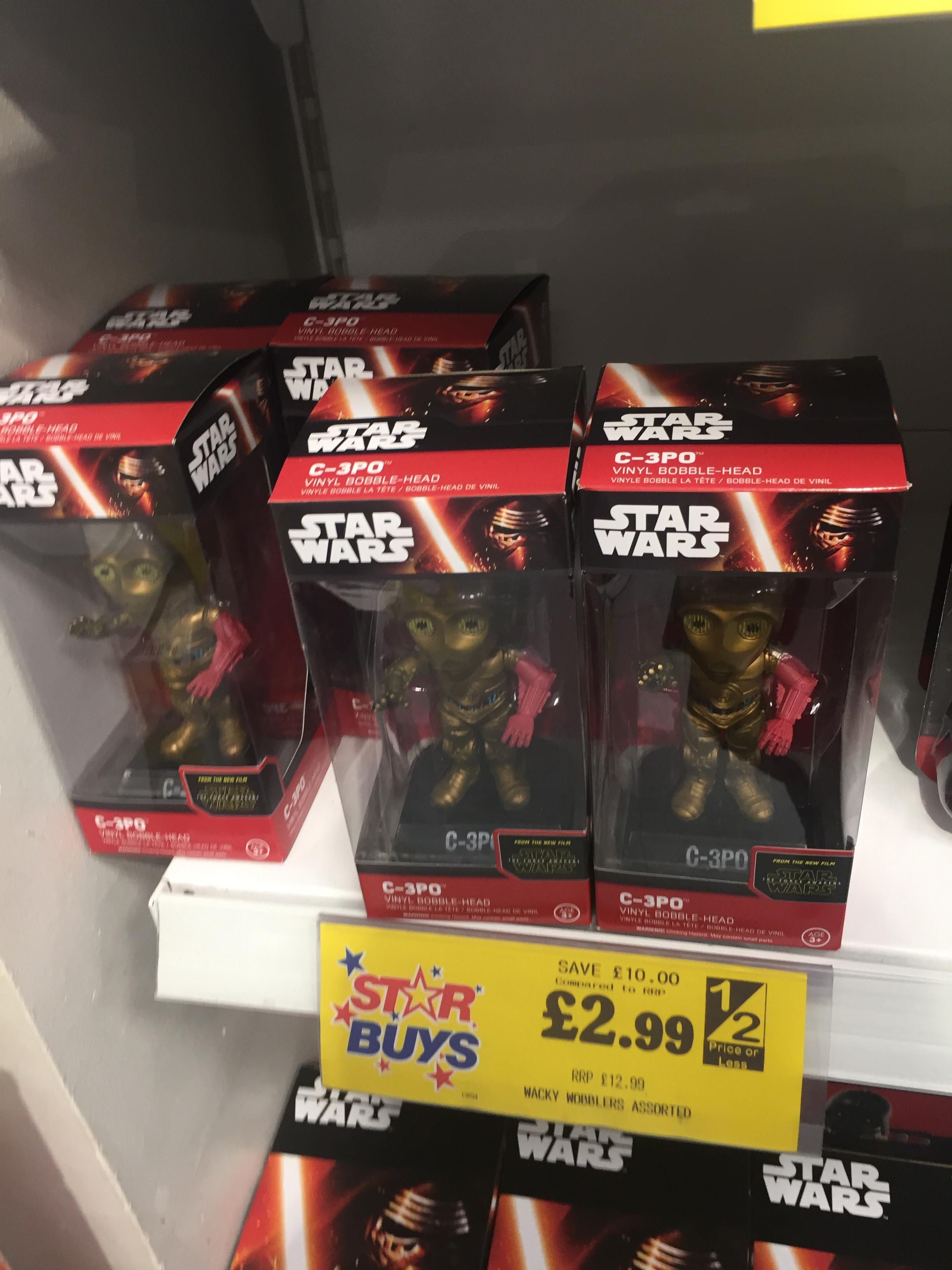 STARWARS C3PO VINYL BOBBLE HEAD only £2.99 @ Home Bargains