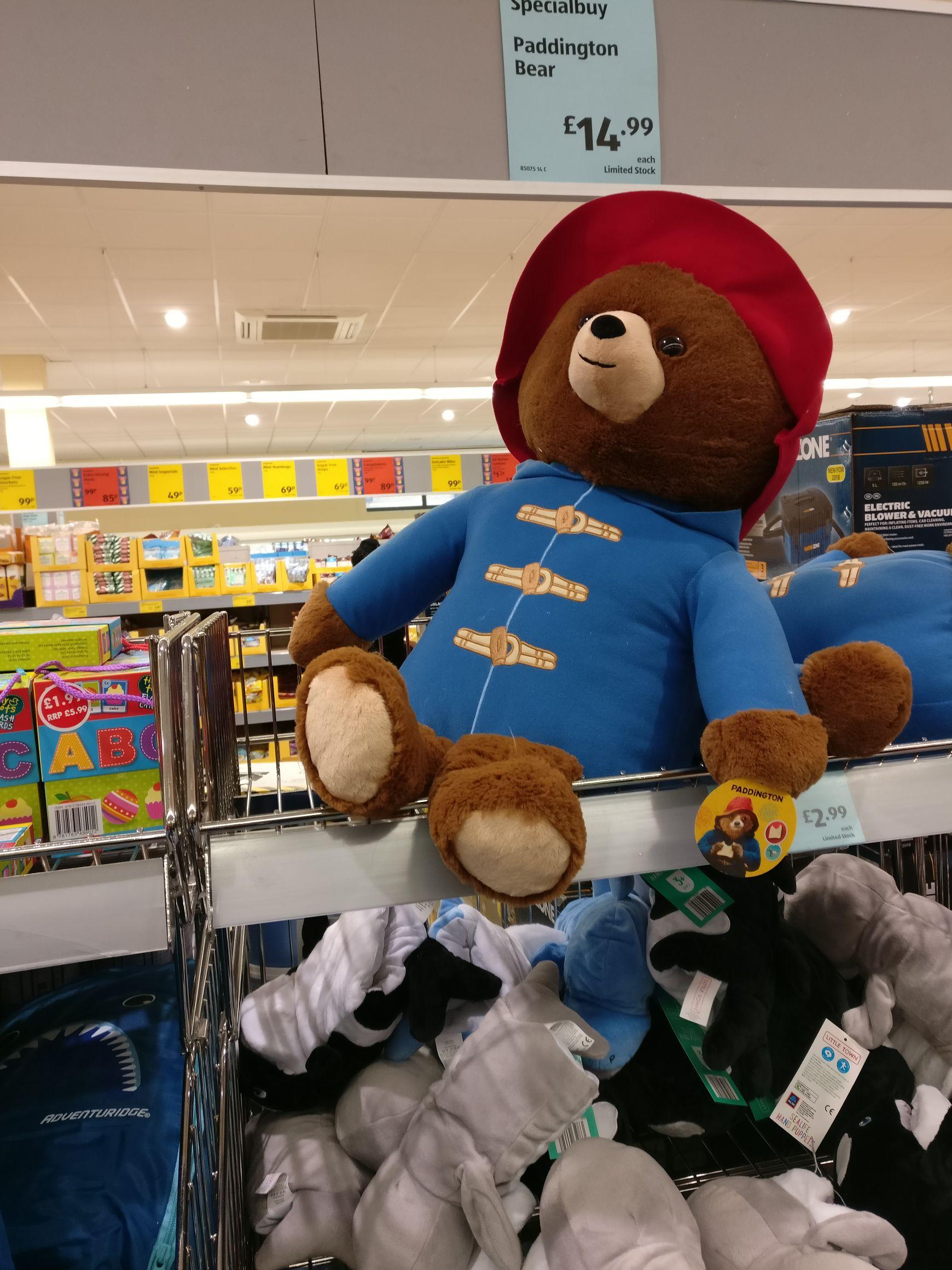Paddington Bear £14.99 @ Aldi