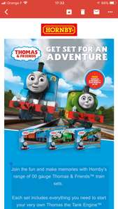 Free Thomas & Friends™ DVD with every Thomas & Friends Train Set! @ Hornby