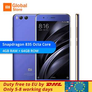 Xiaomi Mi6 64GB 4GB RAM Mobile Phone Snapdragon 835 Global firmware (no band 20) £265.05 @ AliExpress (mi seller)