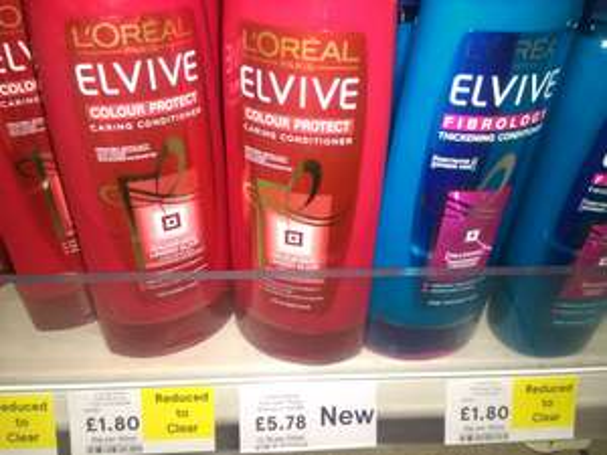 Tesco (Express) Loreal Elvive Shampoo+Conditioner 400ml £1.80 - instore
