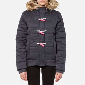 Superdry Women's Marl Toggle Puffle Jacket - Navy Marl from the hut £48