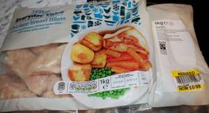 1KG Chicken breast fillets (Tesco Everyday Value)  £0.99 instore at Tesco shaftesbury