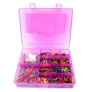 TheToyShop / Entertainer. Rainbow loom band storage and 1000 bands was  £5 now £1 (free C&C on orders over £10)