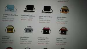 Zatchels leather bags half price. P&p £4 unless you're spending £100