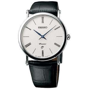 Seiko Premier Men's White Dial Black Leather Strap Watch -  £130 with code HS20OFF @ H Samuel:)