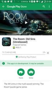 The Room (4) Old Sins Android beta available now (about 2 weeks early) - £4.99 @ Google Play