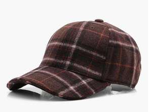 Burgundy Wool Check Cap £3 @ Boohoo + Free Next Day Delivery Using Code: NEXTDAY