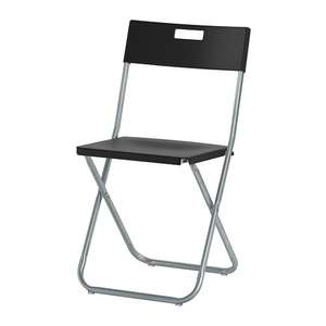 Black GUNDE Folding chair £5 online  Ikea (free c&c)
