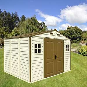 Duramax 10 x 8 vinyl shed  	£470.67 - Amazon