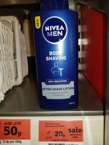 Nivea for Men, After Shave Lotion, WAS £5.00 - NOW 20p instore at Sainsburys, Blackpole, Worcester