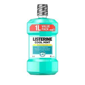 Listerine Cool Mint Mouthwash, 1L - £3 at Amazon add on item