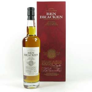 Ben Bracken 27 and 28 year old 0.7L single malt whisky half price £30 @ Lidl