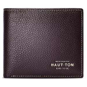 Hautton Bifold Simple Genuine Leather Wallets for Men Money Clip - Made From Full Grain Leather  -  COFFEE £5.45 @ Gearbest