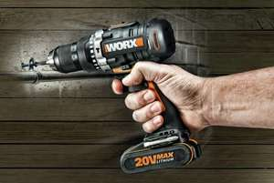 WORX cordless hammer drill (bare) just £31.99 (was £59.99) at Argos on clearance (more stock?).  Great reviews!