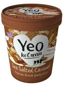 Tesco chesterfield yeo valley salted caramel ice cream reduced to clear to 80p from £4.20