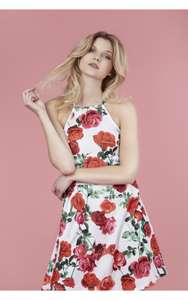 FLORAL HALTER NECK SKATER DRESS £5.99 / £9.98 delivered @ Select fashion
