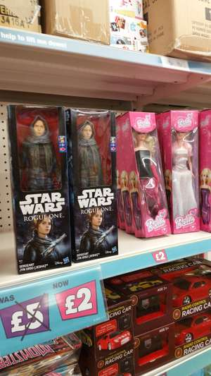 STAR WARS ROGUE ONE £2, BELLA DOLL £2 instore @ POUNDLAND