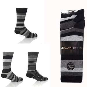 3 Pairs of Mens Giovanni Cassini Berlin Striped  Socks UK Size 6-11 -£3.70 @ tubtub123gifts4u / eBay