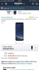 Samsung Galaxy S8 SIM-Free -  £455 at Amazon  Sold by Euronics Com