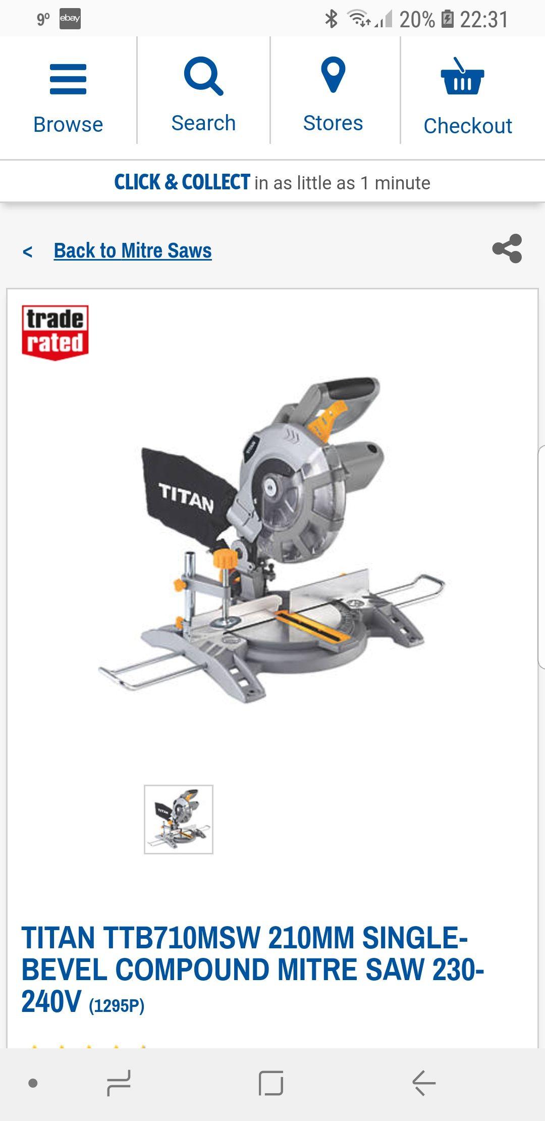 Titan Mitre Saw £49.99  Screwfix