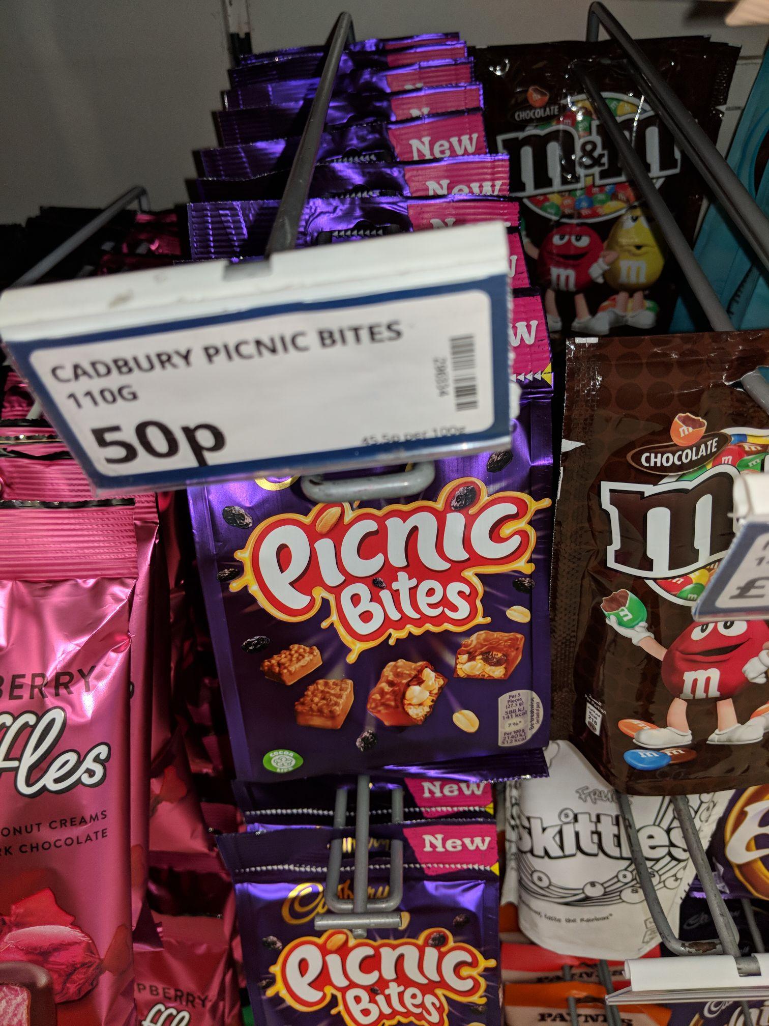 Cadbury Picnic Bites 110g Bag 50p @ poundstretcher