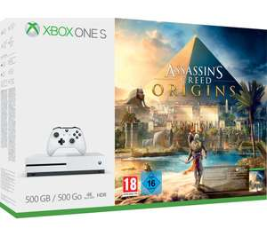 Xbox One S 500GB with Assassin's Creed Origins £136.97 [Instore only at the moment buy may come online later] @ Currys