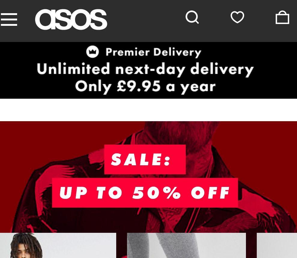 Asos Mens & Womens Sale Upto 50% OFF