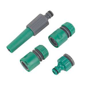 "4 piece 1/2"" hose connector set Reduced to 79p @ Screwfix C+C"