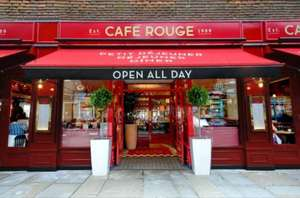 Café Rouge with Wuntu: Free tea, coffee or hot chocolate.