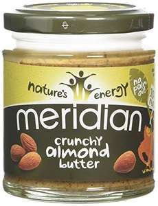 Meridian Natural Crunchy Almond Butter 170 g (Pack of 3) - £6 @ Amazon (Prime exclusive)