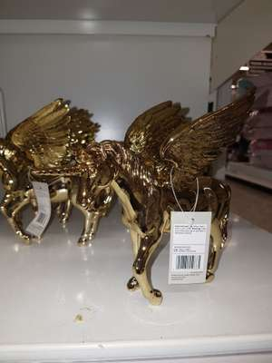 Gold unicorn ornament - 50p instore @ Asda