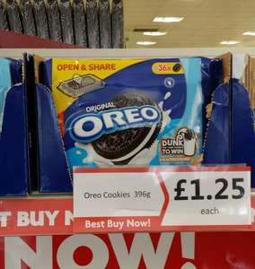 Oreo sharing pack 36 cookies for £1.25 at Heron Foods