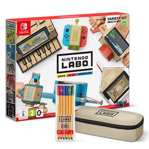 Nintendo Labo Toy-Con 01 £54.99 / Toy-Con 02 £64.99 Delivered (Pre-order - with FREE Pencil Case and Marker Pens) @ 365 Games / Extra £5 off in store at Smyths