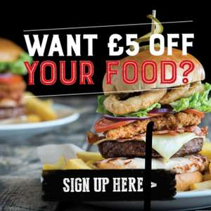 £5 off £10 food - at O'Neill's