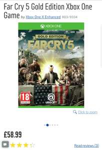Far cry 5 gold edition £58.99 (back in stock at Argos)