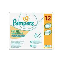 Pampers New Baby sensitive baby wipes 12 x 50 wipes multipack £7 @ Asda