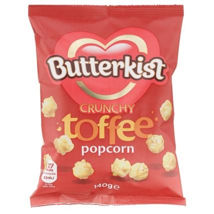 Butterkist Popcorn 140g - Crunchy Toffee 49p @ B&M bargains