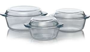 3 Piece Glass Casserole Dish Set now £7.95 delivered @ George Asda