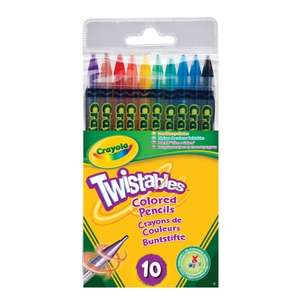 Crayola 10 Twistable Pencils £1 @ B&M bargains