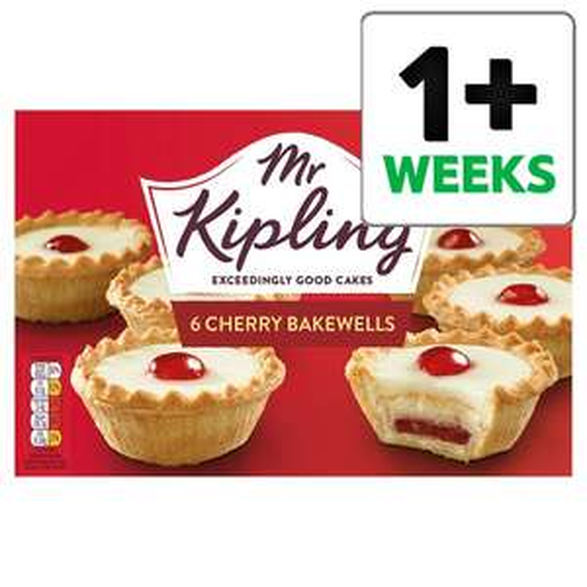 Mr Kipling Cherry Bakewells 6 Pack 82p @ Tesco
