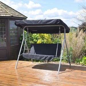 2 seater swinging hammock bench seat with canopy + Next Day Delivery £49.99 delivered @ eBay / beauty4lessuk