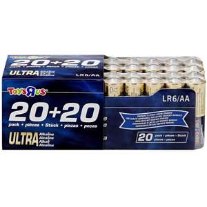 40 AA batteries £3 @ Toys r us - Metro Centre