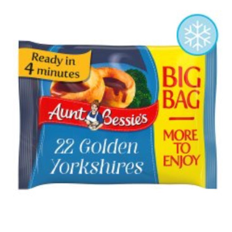 Aunt Bessie's 22 Golden Yorkshires 400g £1.30 @ Tesco
