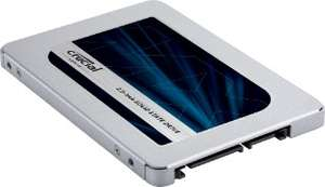 Crucial MX500 500GB SSD - SATA 2.5-inch 7mm (with 9.5mm adapter) £106.79 @ Crucial