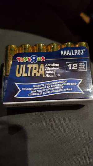 AAA Alcaline Ultra batteries 12 pack £1.50 @ ToysRUs